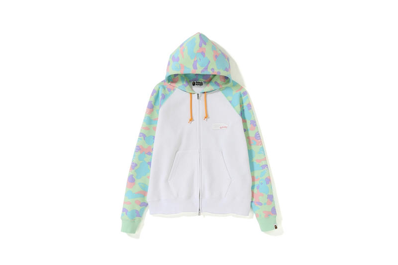 BAPE Pastel Camouflage Collection Hoodie White Green