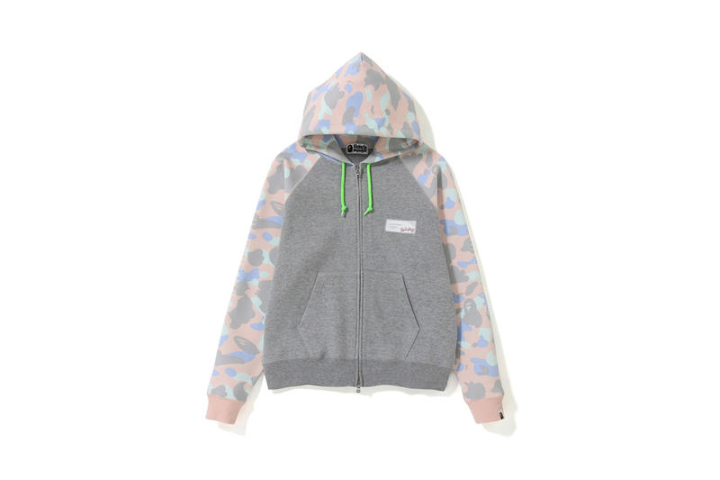 BAPE Pastel Camouflage Collection Hoodie Grey Pink