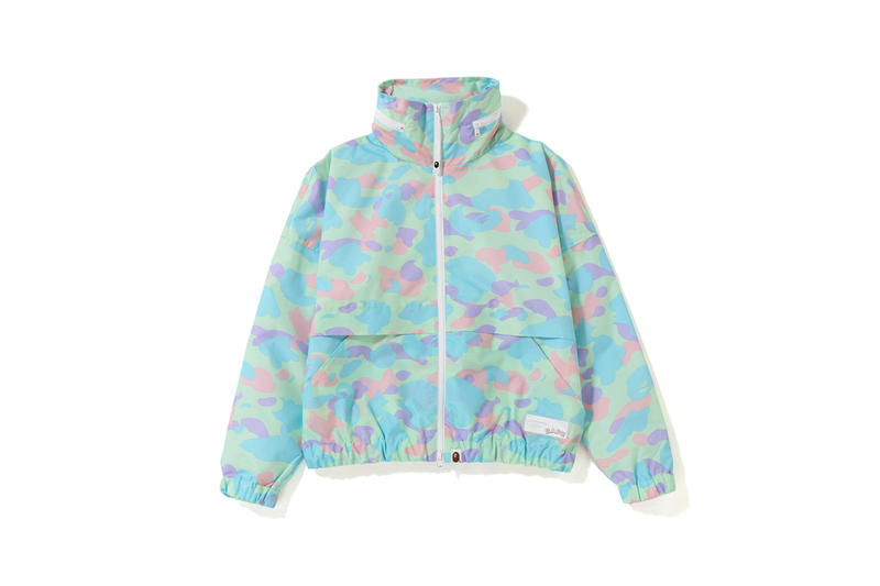 BAPE Pastel Camouflage Collection Jacket Blue Green
