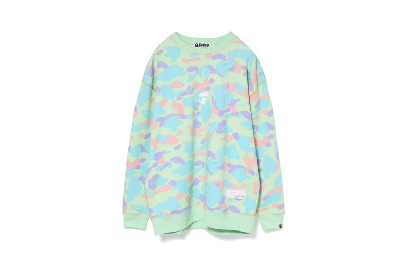 BAPE Pastel Camouflage Collection Sweater Green Blue