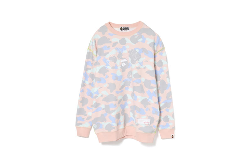 BAPE Pastel Camouflage Collection Sweater Pink Purple