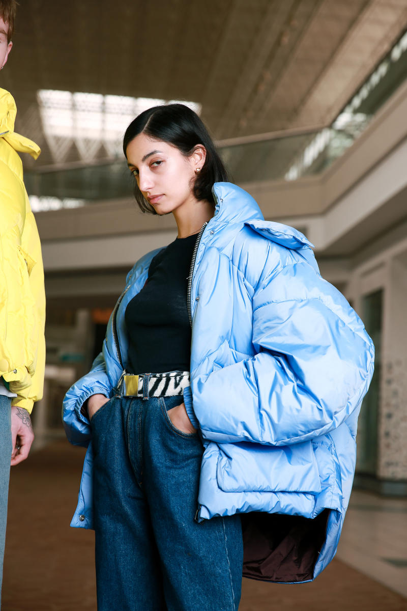 Biannual Fall Winter 2019 Lookbook Coat Blue