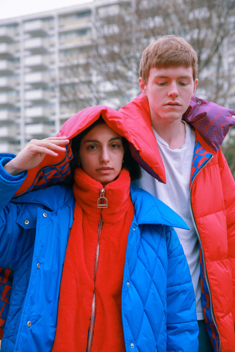 Biannual Fall Winter 2019 Lookbook Coat Red Blue