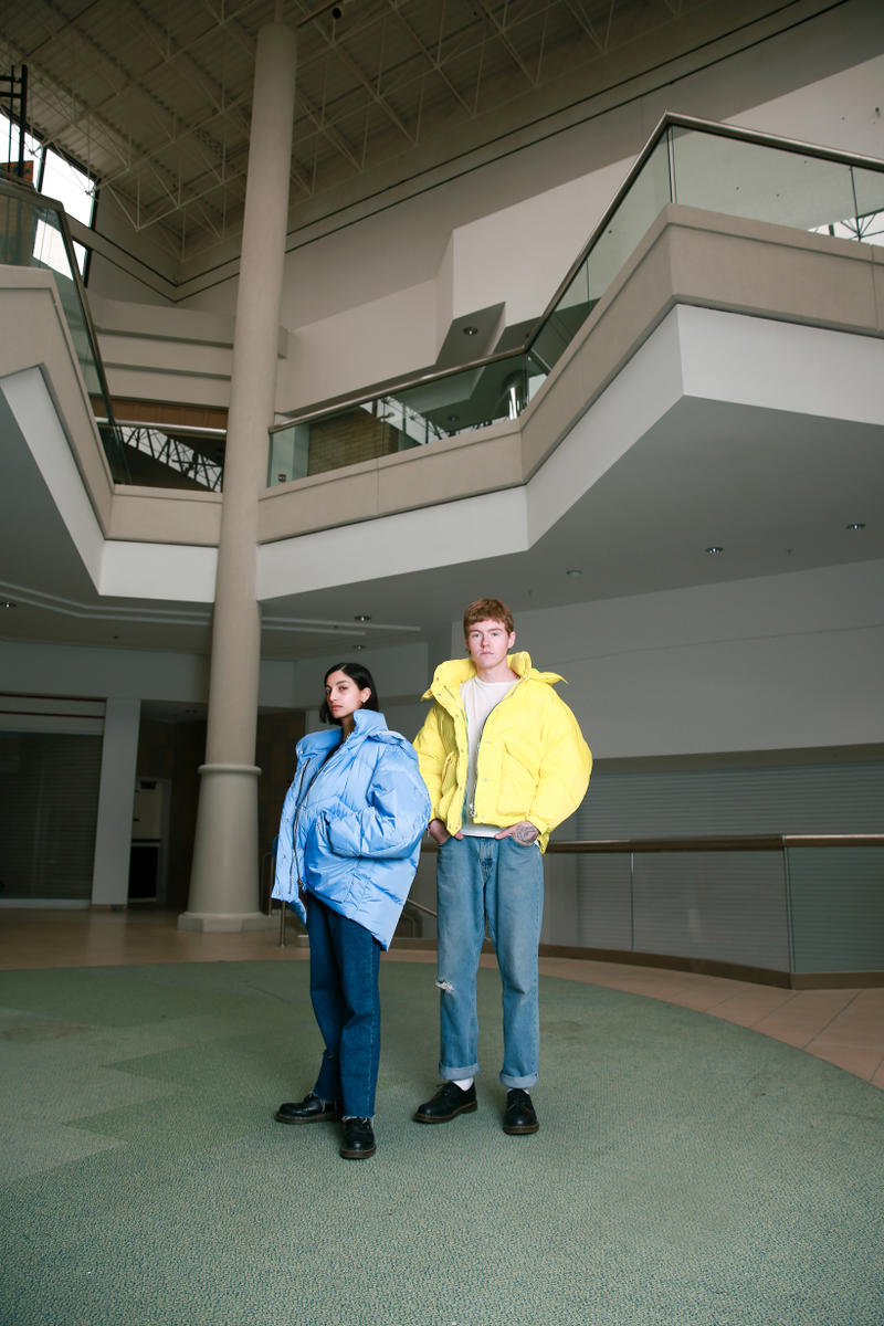 Biannual Fall Winter 2019 Lookbook Coats Blue Yellow
