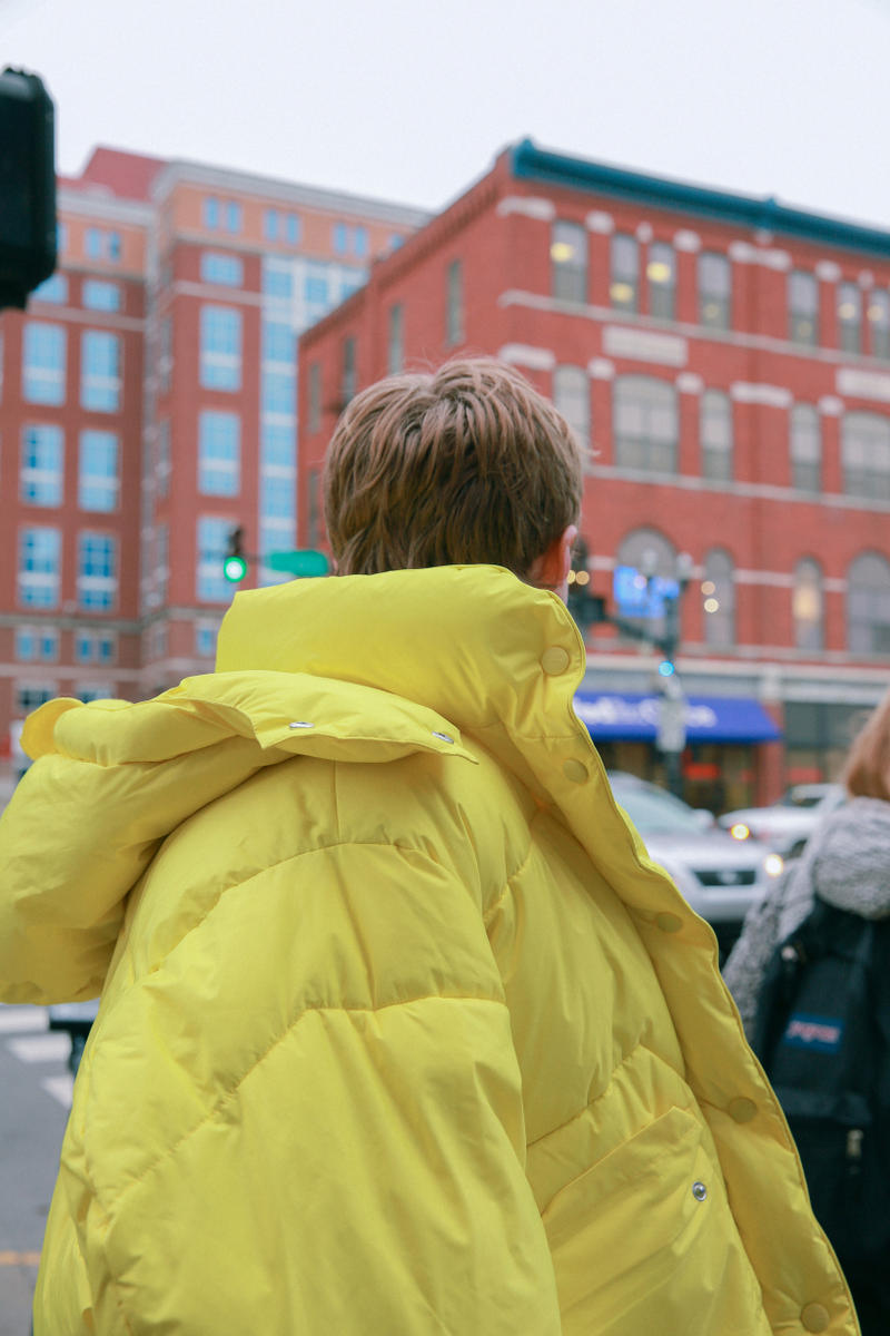 Biannual Fall Winter 2019 Lookbook Coat Yellow