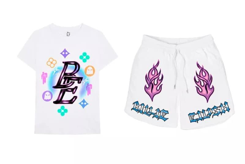 Billie Eilish Merch Collection T-Shirt Shorts White