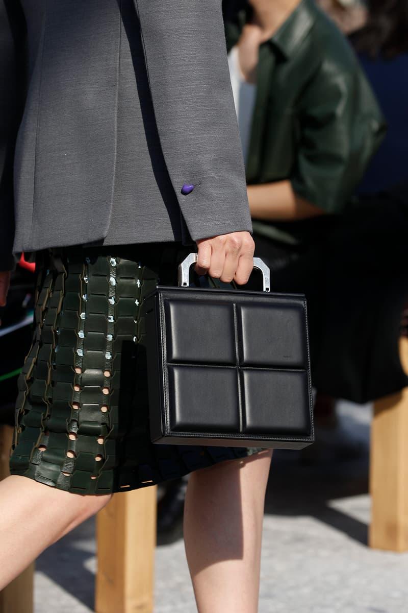 Bottega Veneta Milan Fashion Week Fall Winter 2019 FW19 Daniel Lee Debut Runway Show square bag
