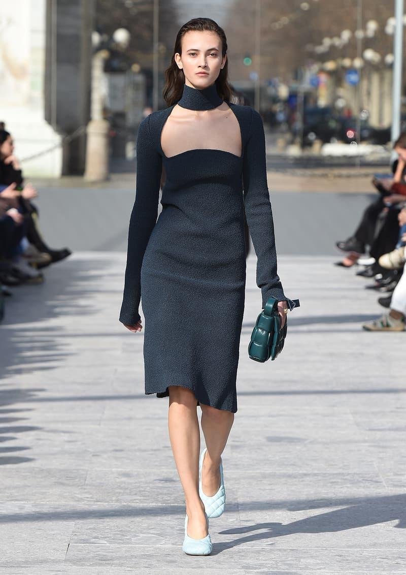 Bottega Veneta Milan Fashion Week Fall Winter 2019 FW19 Daniel Lee Debut Runway Show dress