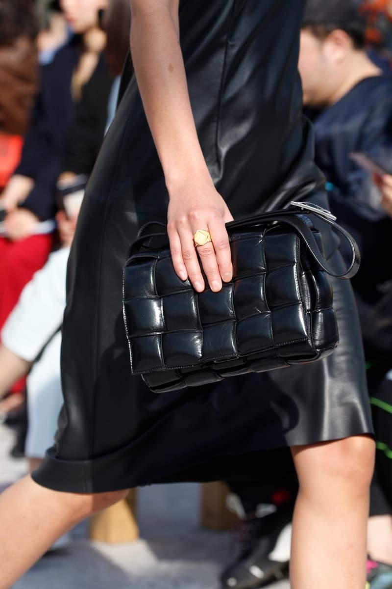 Bottega Veneta Milan Fashion Week Fall Winter 2019 FW19 Daniel Lee Debut Runway Show black leather bag