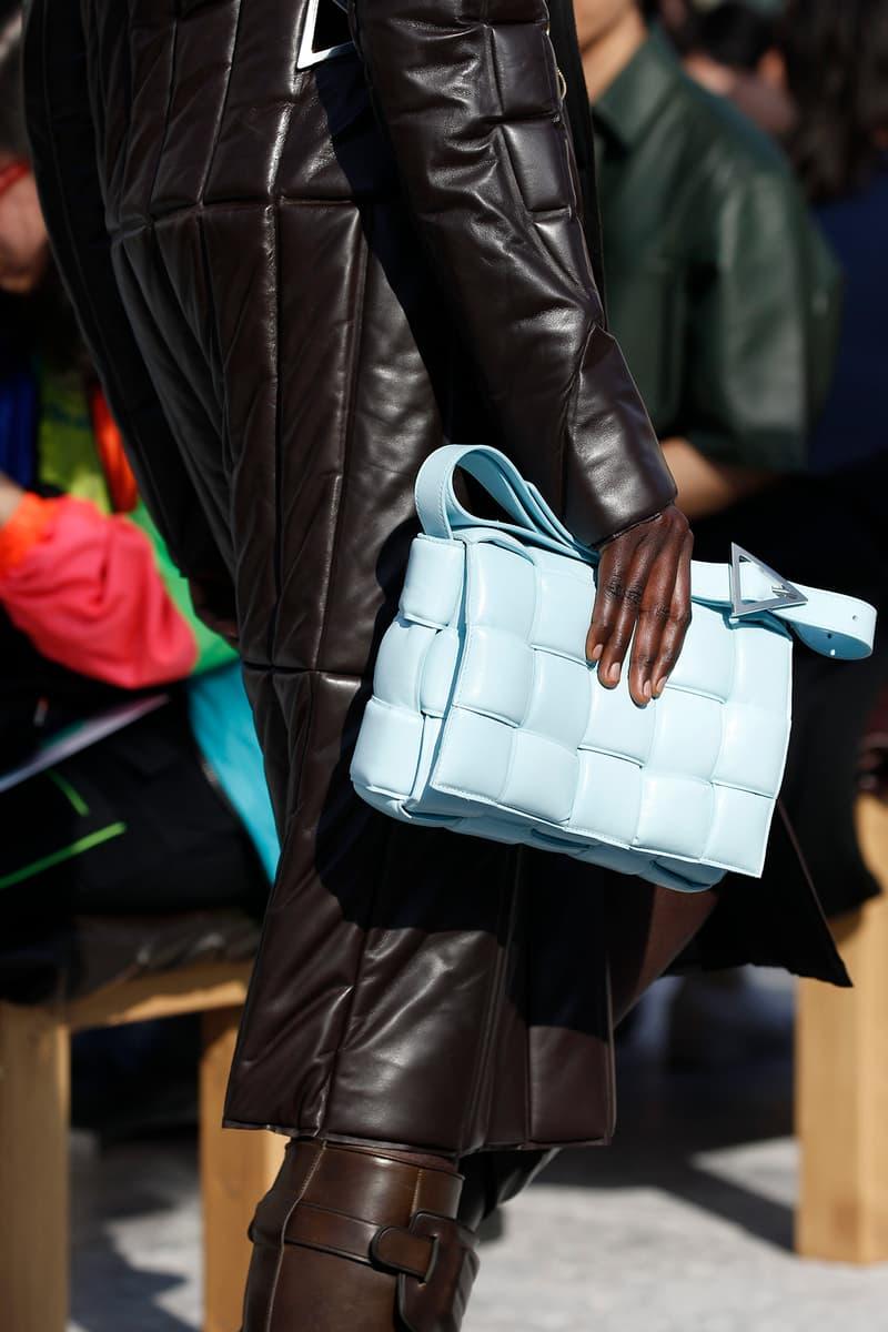 Bottega Veneta Milan Fashion Week Fall Winter 2019 FW19 Daniel Lee Debut Runway Show blue bag