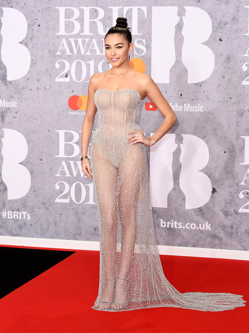 Madison beer Brit Awards 2019 Red Carpet Sheer Dress