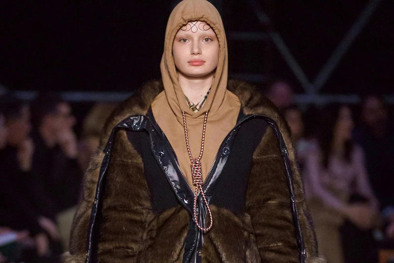 Burberry Ricardo Tisci Fall Winter 2019 London Fashion Week Show Collection Noose Hoodie Brown