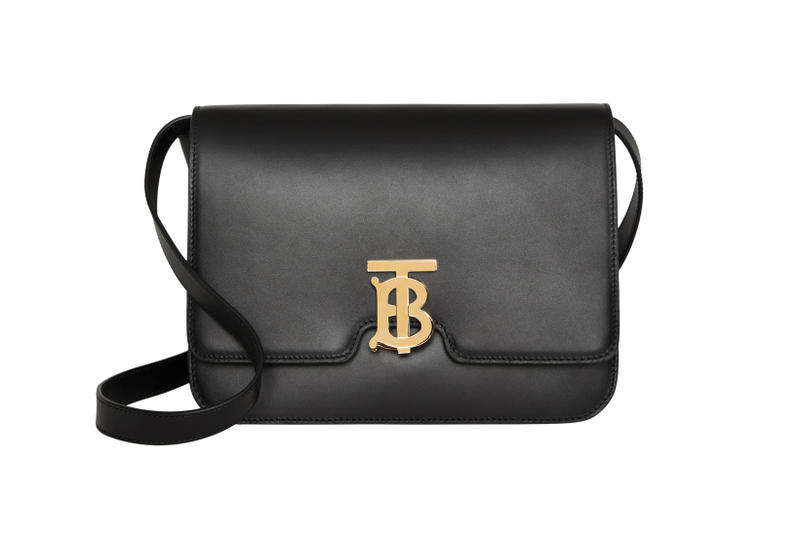 Burberry Small Leather TB Bag Black