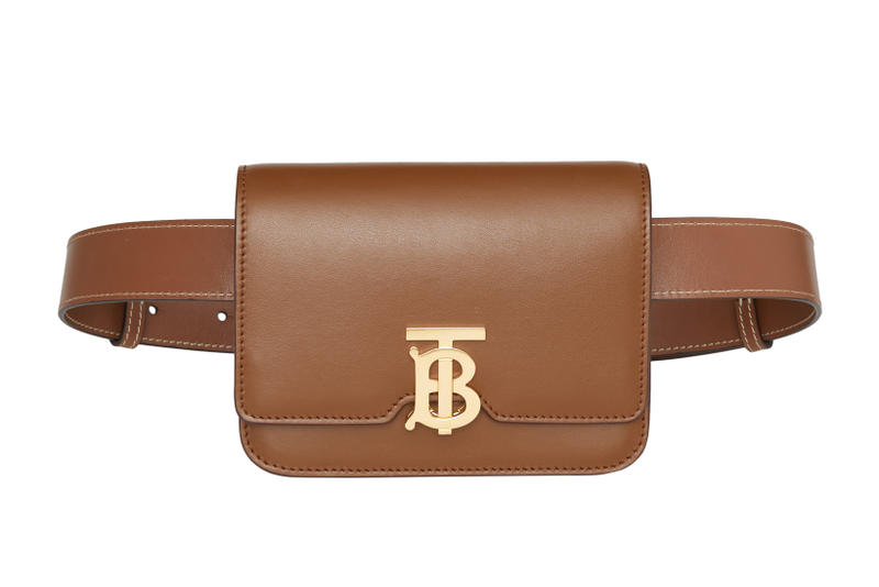 Burberry Leather Belted TB Bag Malt Brown