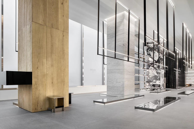 CELINE New York City Flagship Store Wall Brown Tile Silver