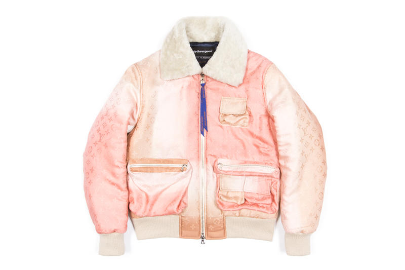 clothsurgeon Louis Vuitton Scarf Bomber Jacket