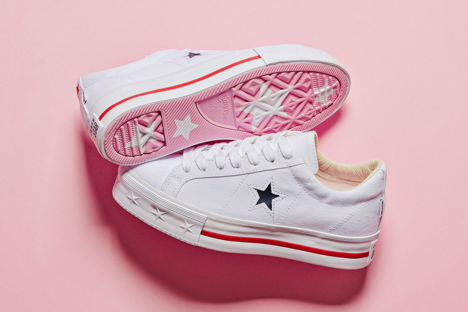 One Star Platform Ox With Pink Sole