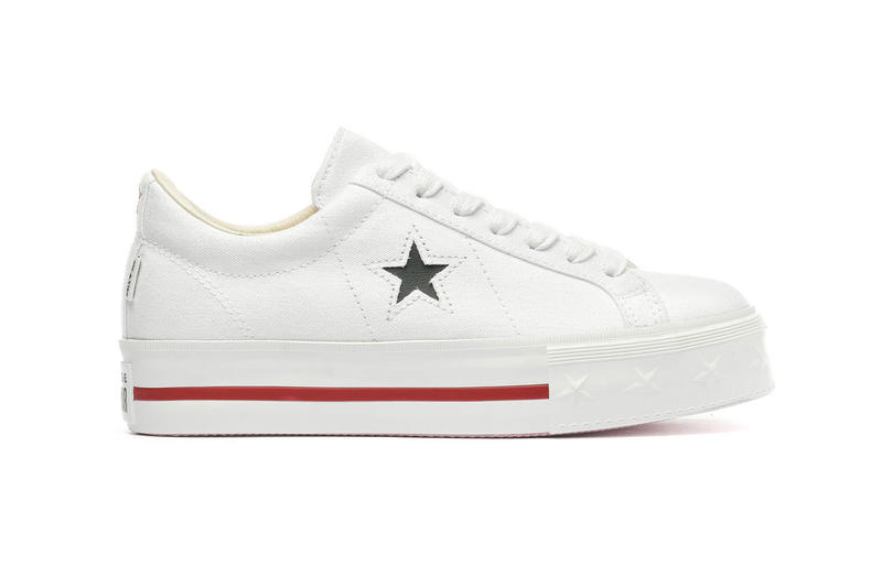 Converse One Star Platform Ox White Dark Obsidian