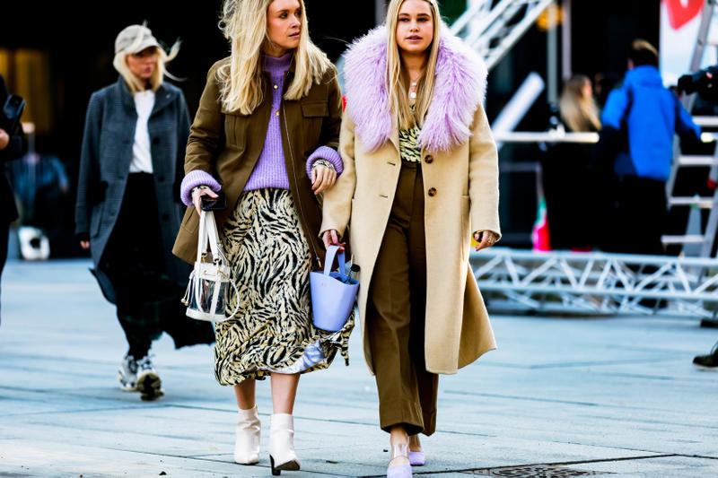 Copenhagen Fashion Week FW19 Streetstyle Snaps Jackets Purple Tan