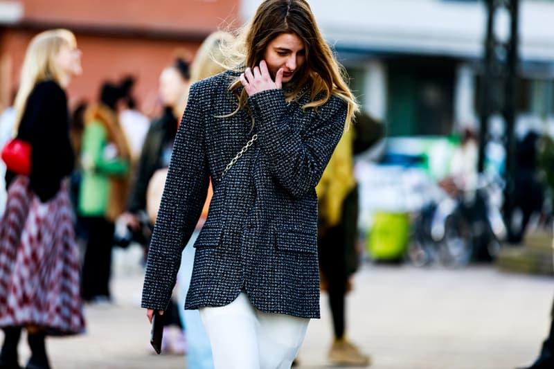 Copenhagen Fashion Week FW19 Streetstyle Snaps Jacket Grey Black