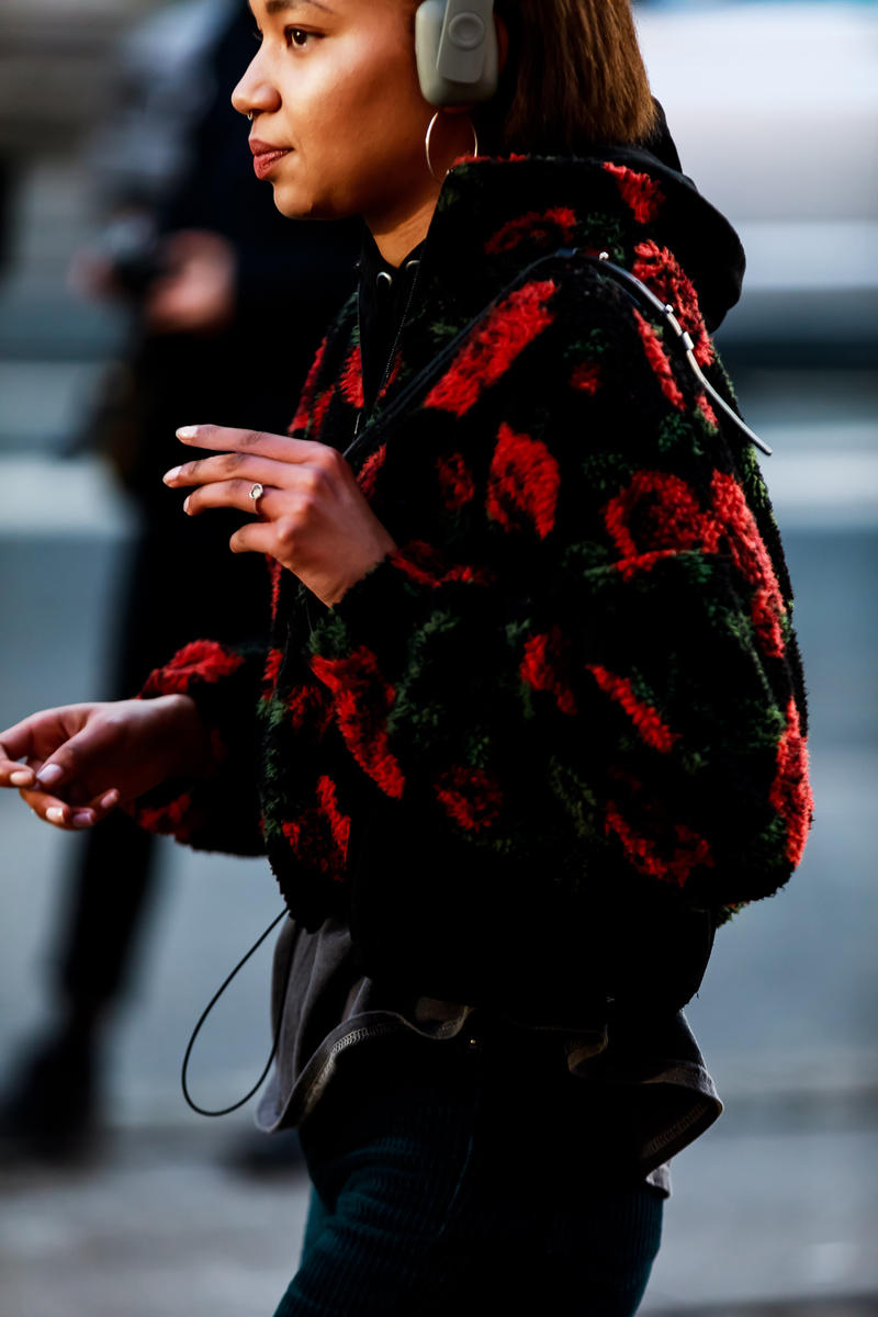Copenhagen Fashion Week FW19 Streetstyle Snaps Jacket Black Red