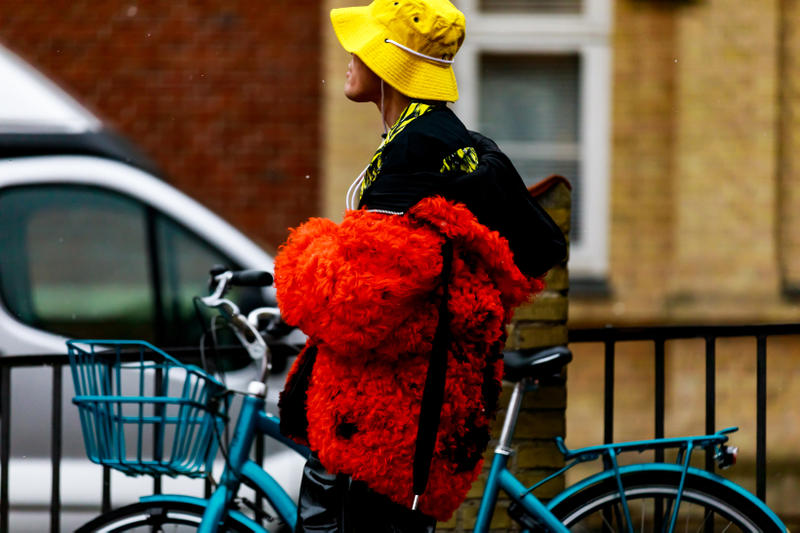 Copenhagen Fashion Week FW19 Streetstyle Snaps Jacket Red Hat Yellow