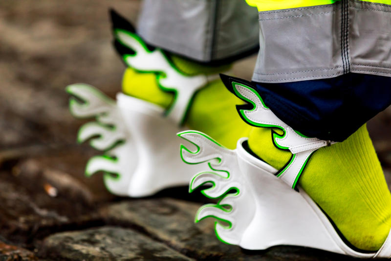 Copenhagen Fashion Week FW19 Streetstyle Snaps Prada Flame Heel White Green