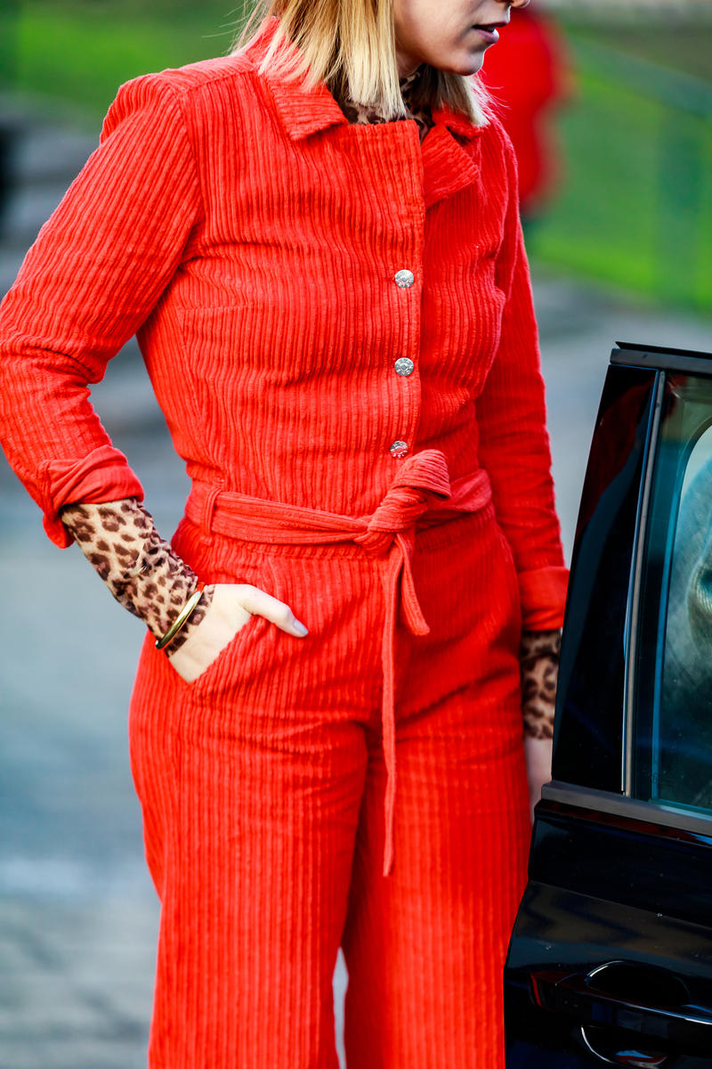 Copenhagen Fashion Week FW19 Streetstyle Snaps Jumpsuit Red
