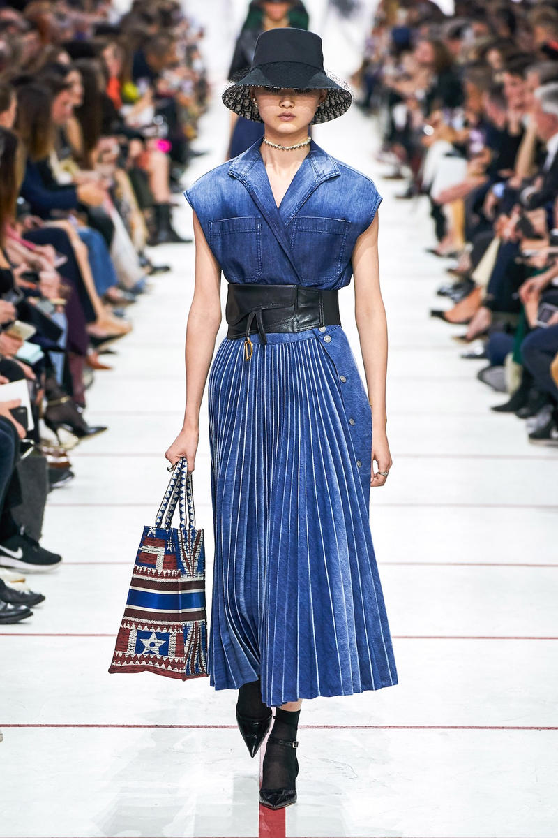 Dior Fall/Winter 2019 Paris Fashion Week Runway Collection Maria Grazia Chiuri Best Looks PFW Fall Winter 2019 FW19 Archive Saddle Bag Yves Saint Laurent Robin Morgan Miss Dior Dress