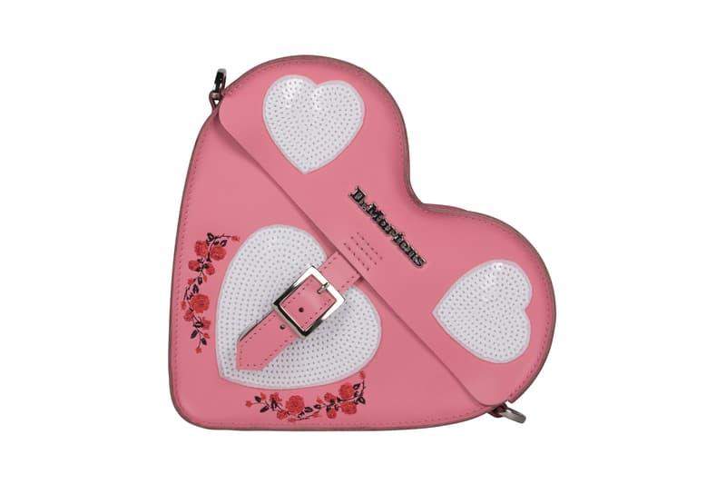 Dr. Martens Valentine's Day Rebel Heart Boots Shoes Satchel Bag Pink Black