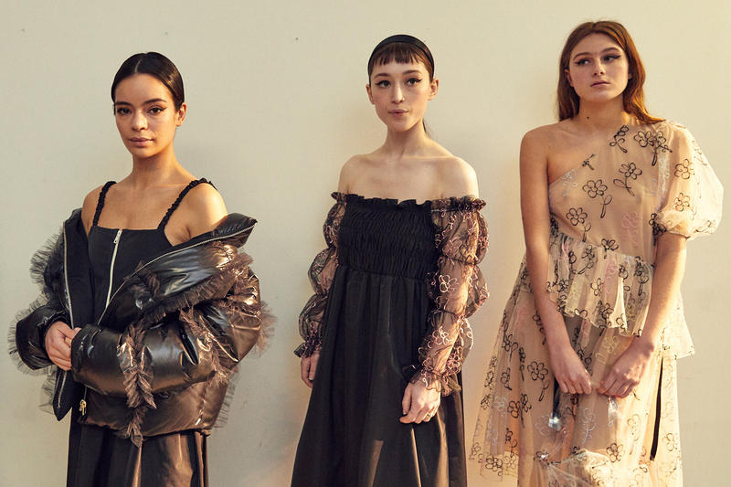 Sandy Liang Fall Winter 2019 New York Fashion Week Dresses Black Cream Floral