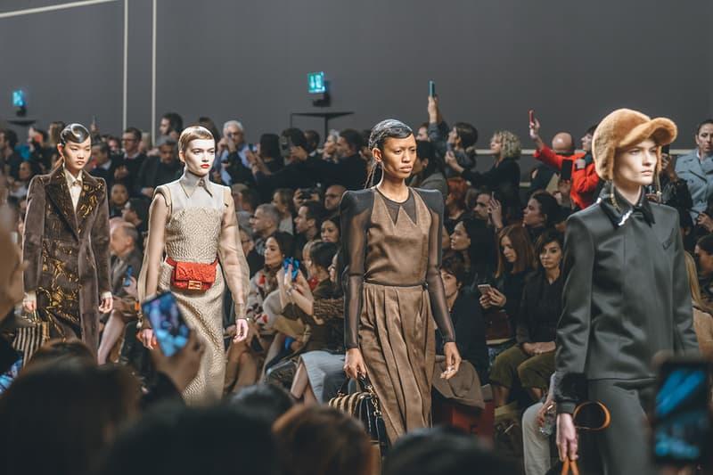 adesuwa ruth bell karl lagerfeld fall winter 2019 fw19 milan fashion week final last runway show finale models dress brown