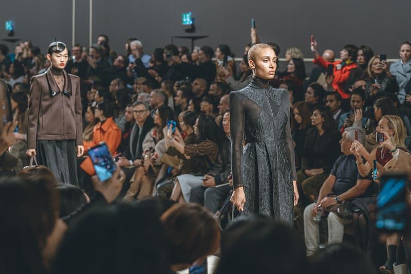 adwoa aboah karl lagerfeld fall winter 2019 fw19 milan fashion week final last runway show finale models dress black