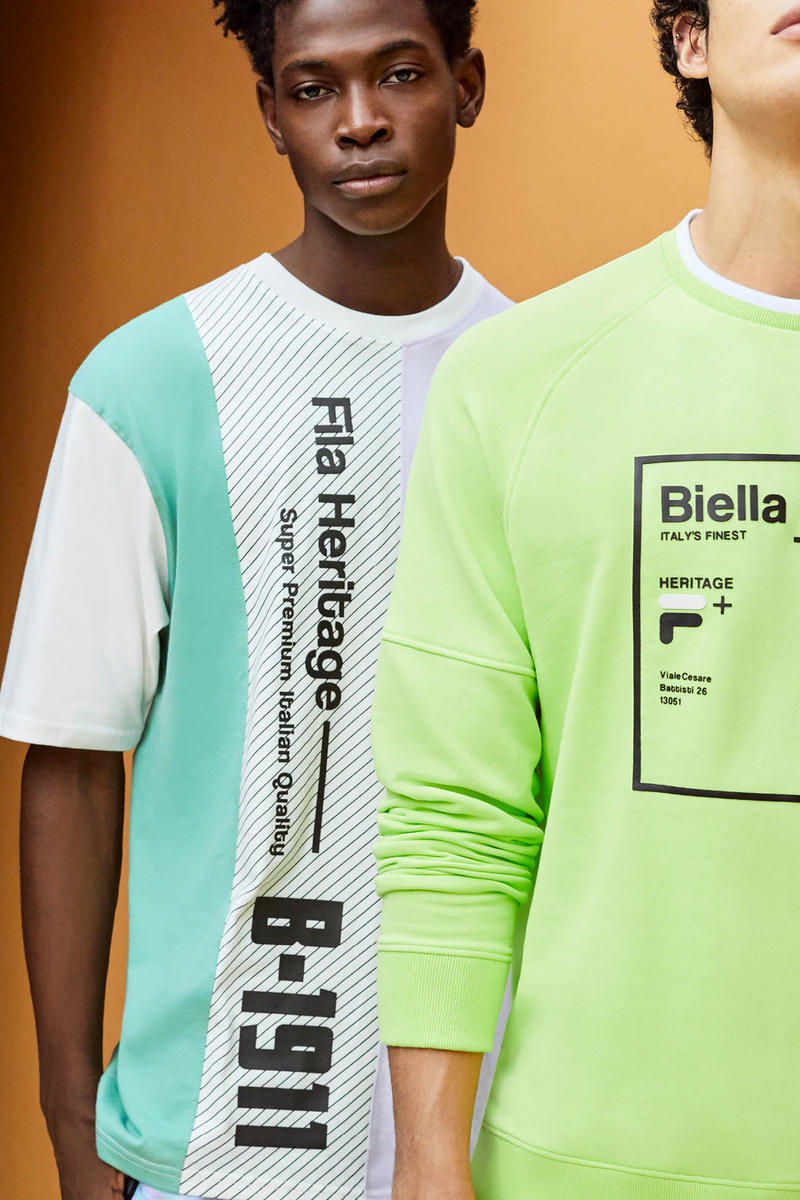 FILA Spring Summer 2019 Collection Lookbook T-shirts Grey Green