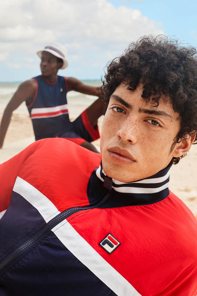 FILA Spring Summer 2019 Collection Lookbook Jacket Red Navy