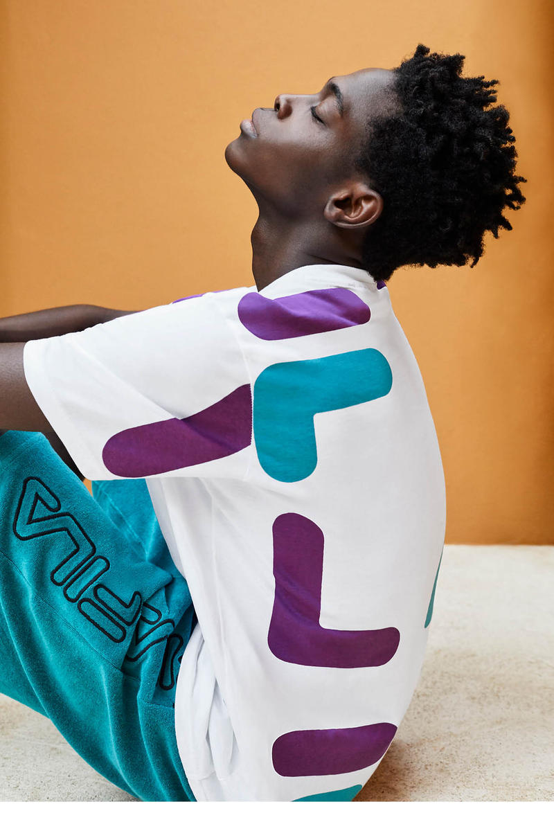 FILA Spring Summer 2019 Collection Lookbook T-shirt White Purple