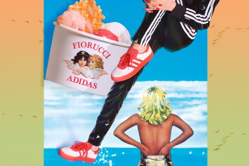 Fiorucci x adidas Originals Collection Vinyl Pants Black Samba Rose Red Pink