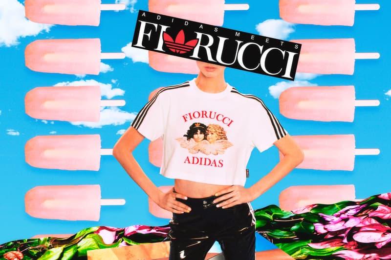 Fiorucci x adidas Originals Collection T-shirt White Vinyl Pants Black