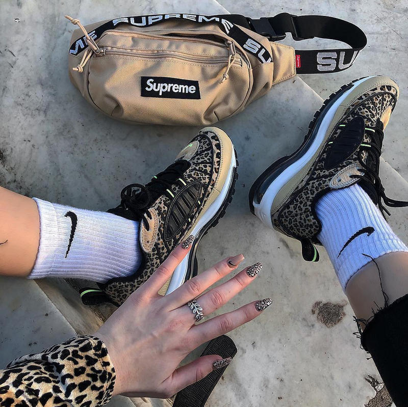 How To Wear Leopard Print: Nike, Supreme and more Nude Look Outfit Inspiration Styling Sneaker Fashion Ideas Streetwear Look