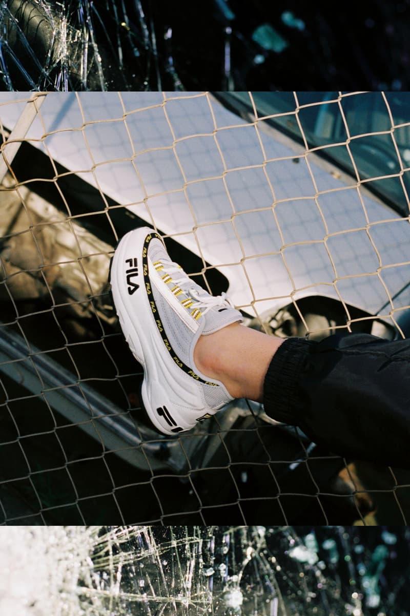 Girl on Kicks FILA DSTR97 Editorial Sneakers White Navy Yellow