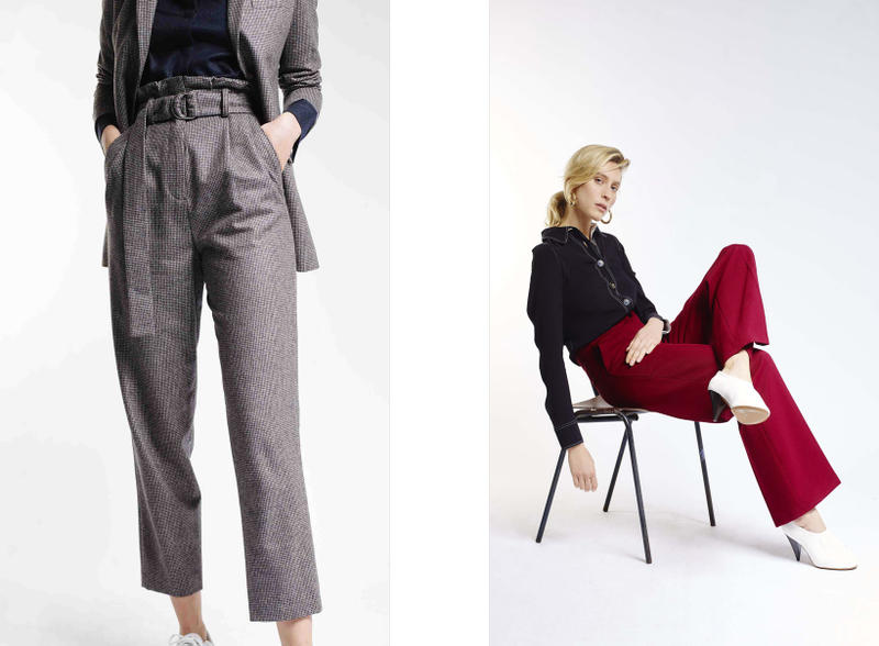 Harmony Paris A Daily Uniform Collection Lookbook Trousers Grey Red Shirt Black