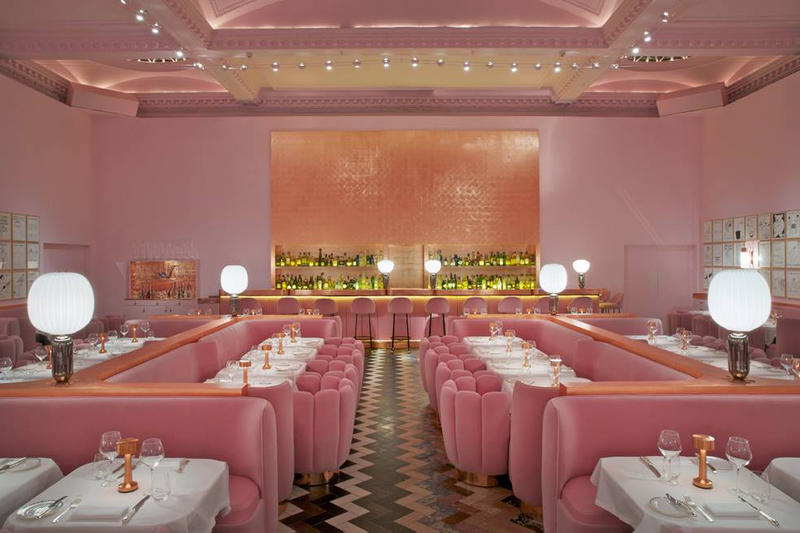 Instagrammable Pink Valentines Day Restaurant Bars East West Central London Mayfair Shoreditch