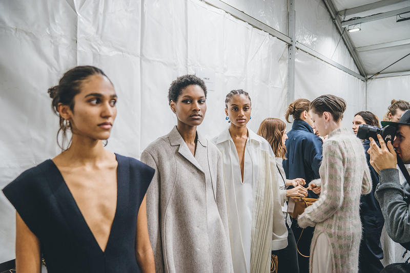 Jil Sander Fall Winter 2019 Runway Show Backstage Milan Fashion Week Models
