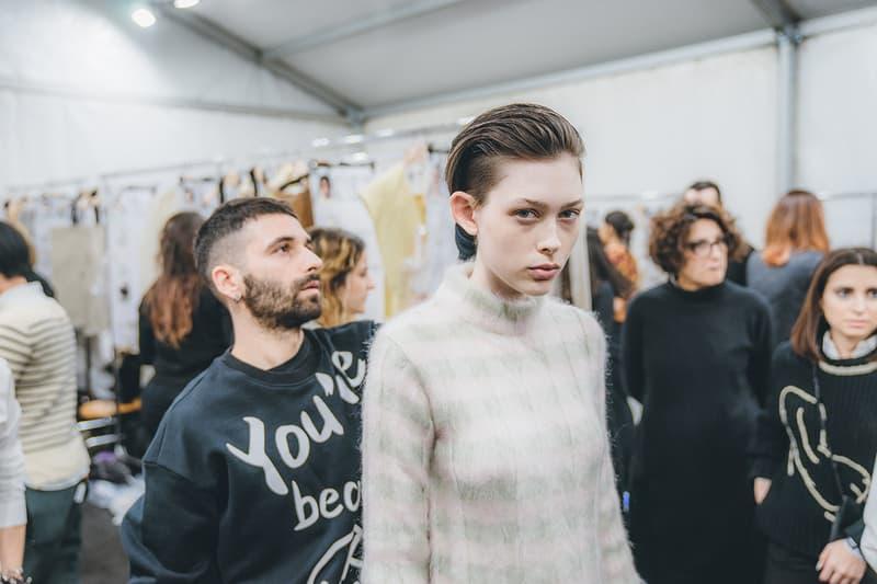 Jil Sander Fall Winter 2019 Runway Show Backstage Milan Fashion Week hair makeup