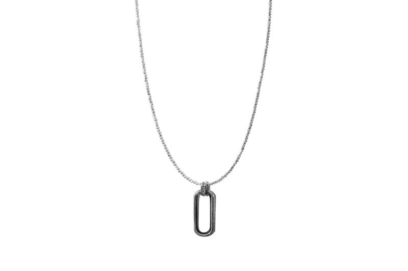 John Elliott x M.A.R.S Jewelry Collection Square Beaded Necklace Silver