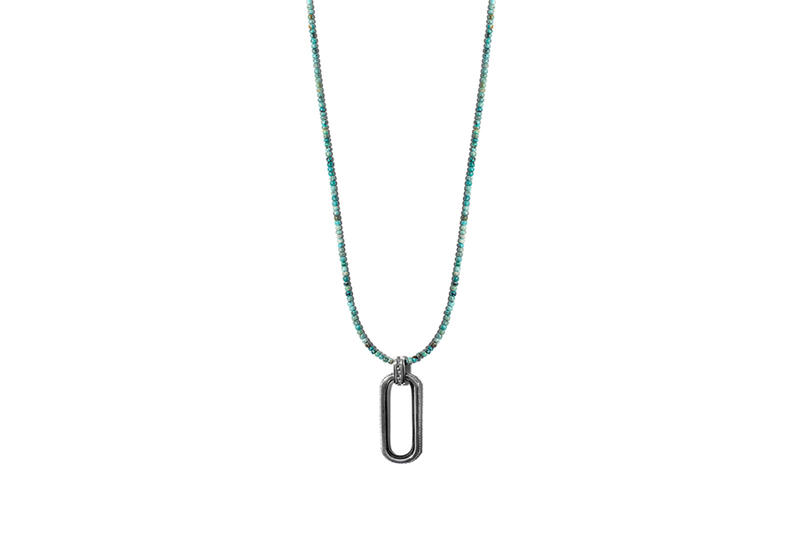 John Elliott x M.A.R.S Jewelry Collection Turquoise Beaded Necklace