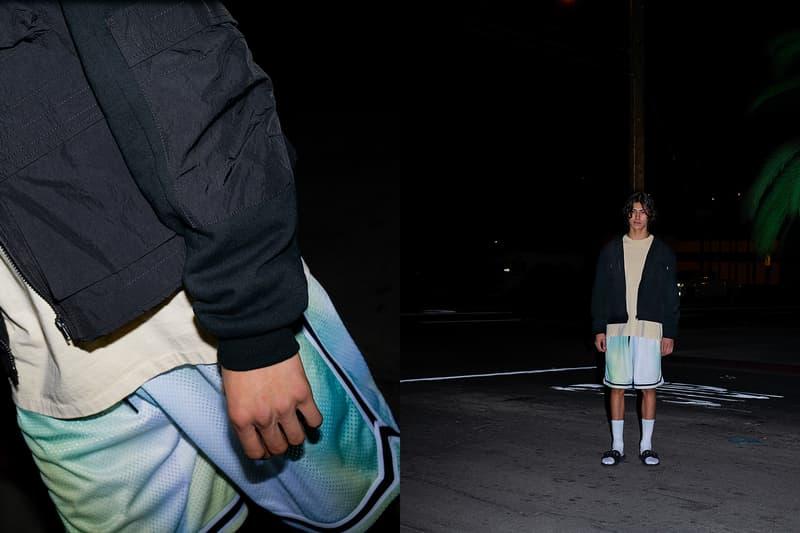 John Elliott Spring Summer 2019 Lookbook Shorts Green Blue Jacket Black