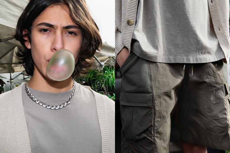 John Elliott Spring Summer 2019 Lookbook Shirts Shorts Grey Necklace Silver