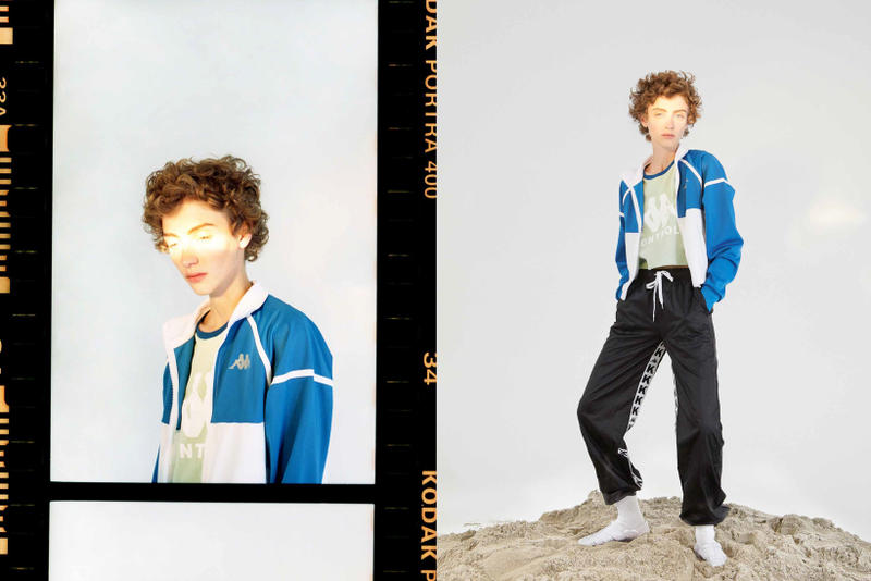 Kappa Kontroll Spring Summer 2019 Collection Lookbook Jacket Blue White Pants Black