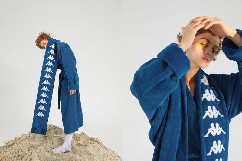 Kappa Kontroll Spring Summer 2019 Collection Lookbook Logo Robe Scarf Blue